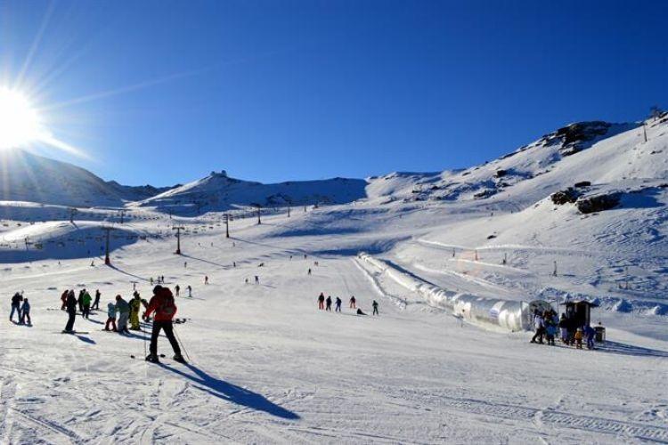 station de ski au Sierra Nevada, Espagne