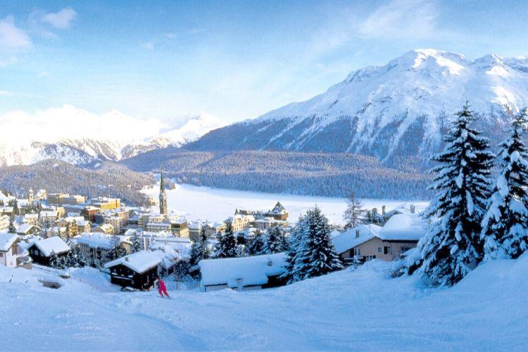 station de ski de St. Moritz, Suisse